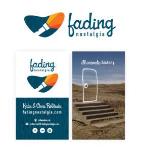 Fading Nostalgia Logo and Business Card