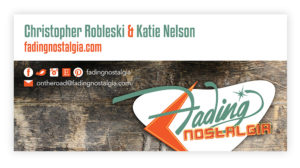 Fading Nostalgia Signage and Business Card Design