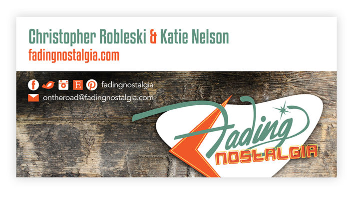 Fading Nostalgia Signage and Business Card Design