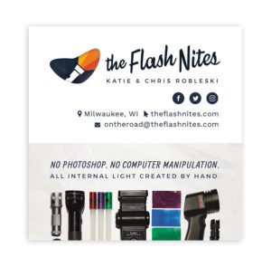 The Flash Nites Business Card - Front