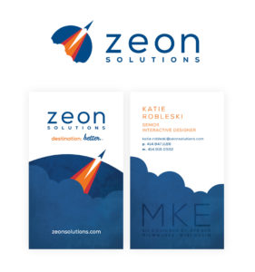 Zeon Solutions Business Card