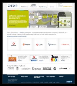 Zeon Solutions Website before