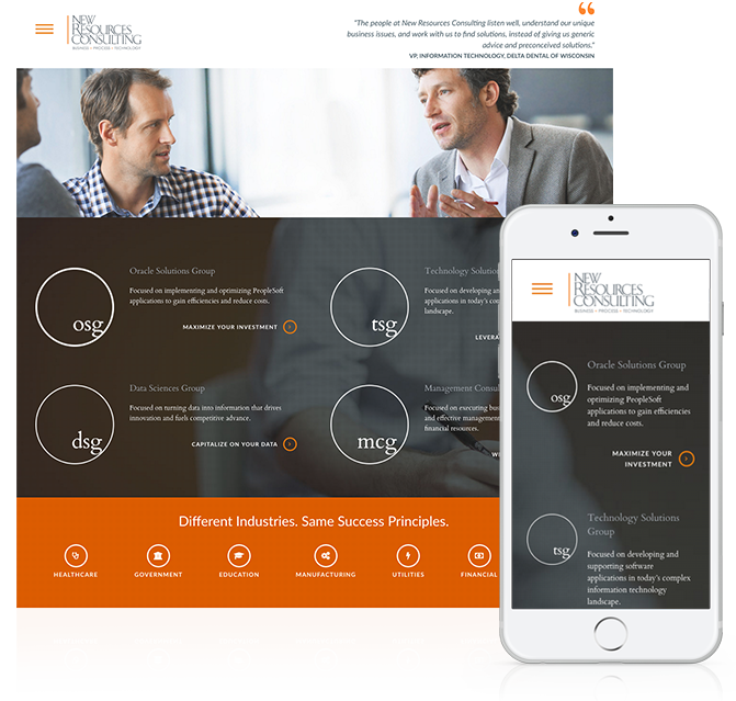 NRConsults Responsive Website