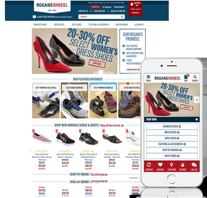 Rogans Shoes Responsive Website