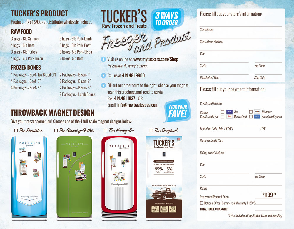 Tuckers Raw Frozen Brochure Back