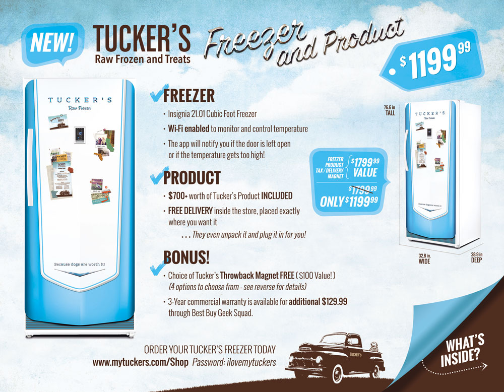 Tuckers Raw Frozen Brochure Front