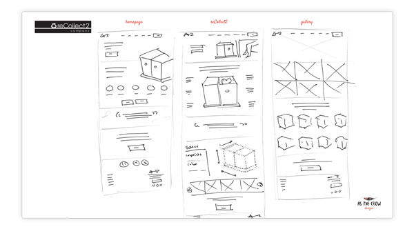 recollect2 Wireframes