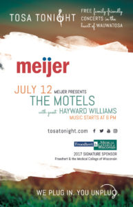 Tosa Tonight The Motels Ad